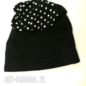 wiosna czapka damska wiosenna czarna