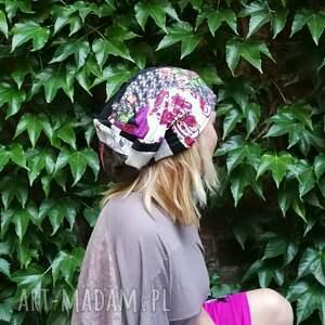 czapki etno czapka damska szyta patchworkowo