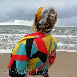 intrygujące czapki etno czapka damska patchworkowa