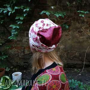 czapki folk czapka damska w kwiaty wiosenna