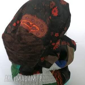 czapki etno czapka damska i komin patchworkowy