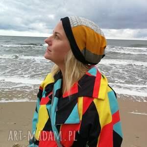 czapki etno czapka damska patchworkowa
