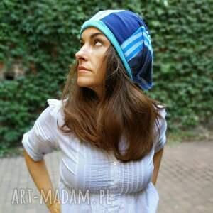 handmade czapki czapka damska dzianina smerfetka