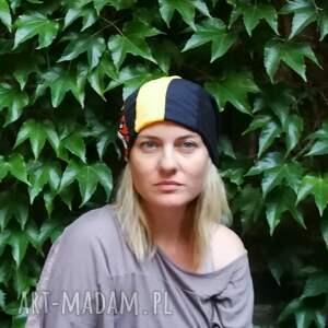 czapki folk czapka damska szyta patchworkowo