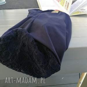 ciekawe czapki koronka czapka damska granatowa