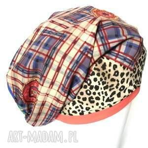 ręcznie zrobione czapki czapka damska panterka kwiatowa