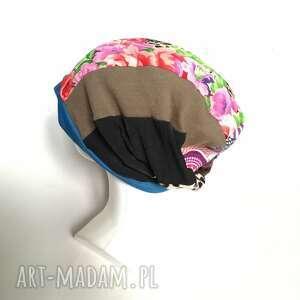 długa czapki czapka damska kolorowa smerfetka