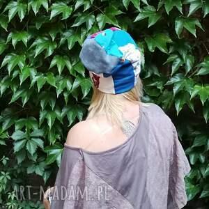 etno czapki czapka damska szyta patchworkowo