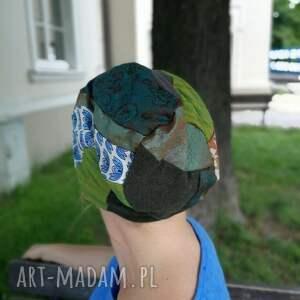 czapki patchworkowa czapka damska na podszewce szyta