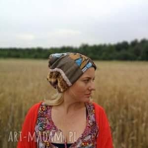 czapki etno czapka damska ciepła zimowa