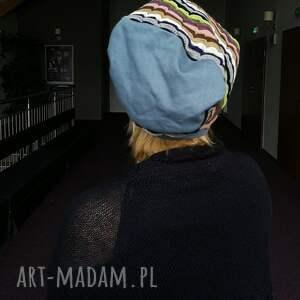 dzianina czapki czapka damska materiał