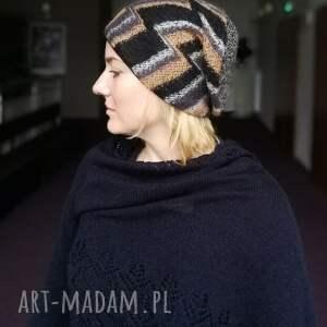 wyjątkowe czapki wełna czapka damska azurowa wełniana