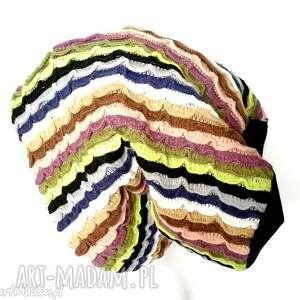 paski czapki czapka damska kolorowa etno