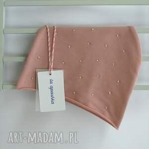 różowe czapki czapka dla dziecka z koralikami