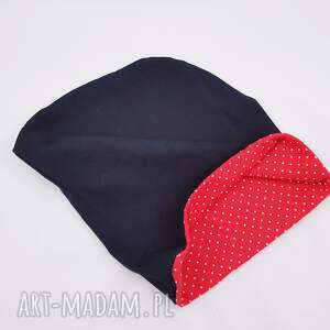 czapka czapki czerwone dresowa smerfetka