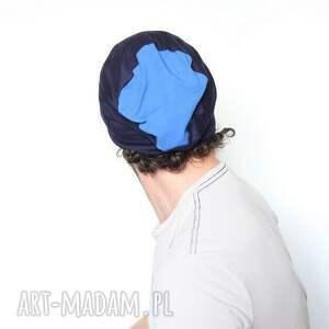 dres czapki czapka dresowa niebieska dzianinowa