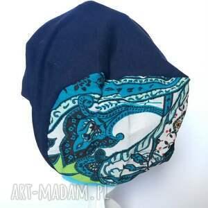modne czapki czapka dresówka boho tkanina folk