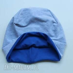 hand made czapki dwukolorowa czapka dwustronna 2 w 1 dziecięca