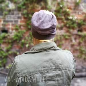 efektowne czapki czapka dzianinowa wiosenna ręcznie