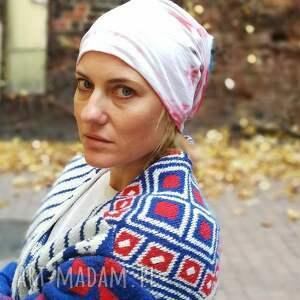 czapki: czapka dzianinowa damska dresowa farbowana folk boho - etno