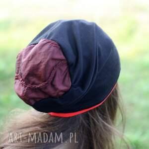 sport czapki czapka dzianinowa czarna z bordo
