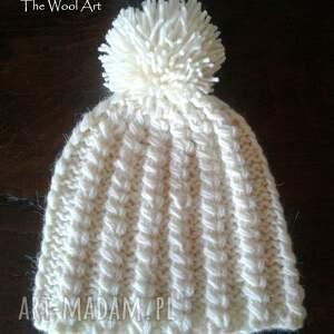 kolorowe czapki czapka ecru