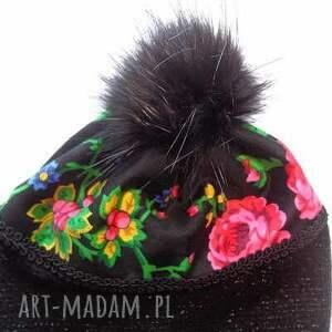 hand made czapki góralskie czapka folk design aneta larysa knap tkanina