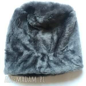 handmade czapki czapka futrzana zimowa ciepła