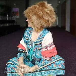ręcznie robione czapki futrzana czapka zimowa ciepła