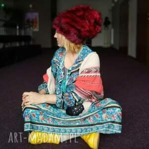 czapki zimowa czapka futrzana ciepła handmade kolor