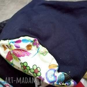 etno czapka granatowa na podszewce