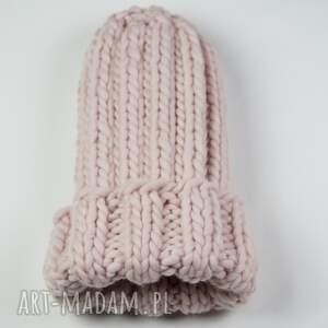 modne czapki czapka xxl gruba wełna peruwiańska