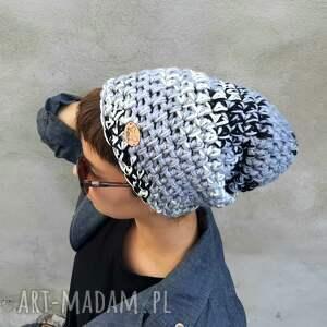 Mimi Monster czapki: Czapka Hand Made No 057 - beanie - szydełkowa czpka dla dziewczyny