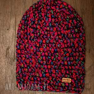 upominek święta niebieskie czapka hand made no. 045 / beanie