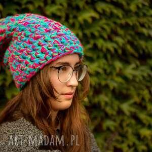 czapka-szydełkowana czapki zielone czapka hand made no. 038 / beanie