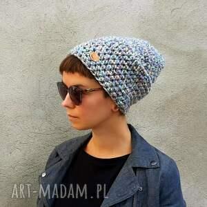 intrygujące czapki pastelowa czapka hand made no. 056 / beanie