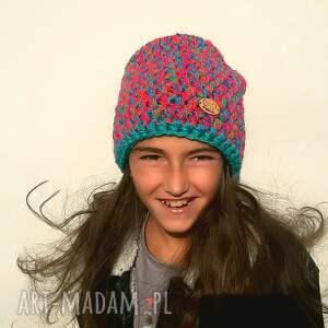 pomysł jaki prezent pod choinkę czapka ręcznie zrobiona hand made no. 055 / beanie