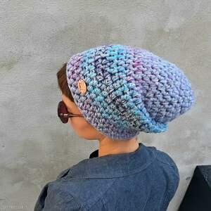 szare czapki czapka hand made no. 058 - beanie