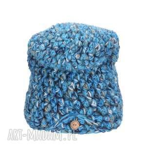 czapki: Czapka Hand Made No. 046 / beanie szydło - narciarska wełniana
