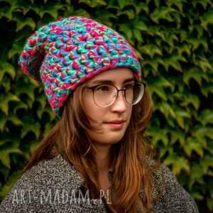 niebieskie czapki czapka zimowa hand made no. 038 / beanie