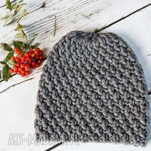 oryginalne czapki czapka ciepła robiona na drutach ściegiem