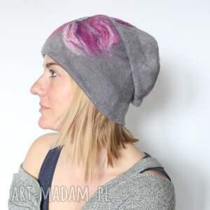 wyraziste czapki czapka handmade wełniana