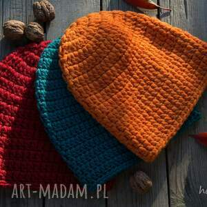 HERMINA czapki: Czapka handmade - ciepła