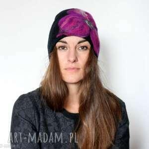kolorowe czapki wełna czapka handmade wełniana
