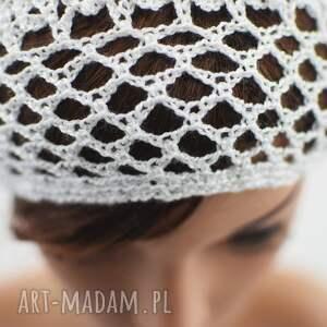 BARSKA czapki plażowa siatka biała