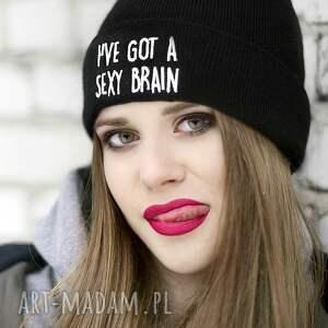 czapki naszywka czapka i've got a sexy brain!