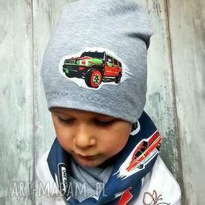 szare czapki czapka komin dla chłopca