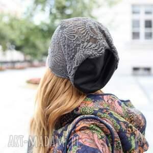 czarne czapki elegancka czapka koronkowa bez podszewki