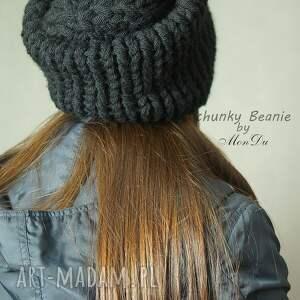 gruba czapki bezszwowa czapa wykonana na drutach