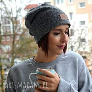 urokliwe czapki czapka melanżowa szara beanie
